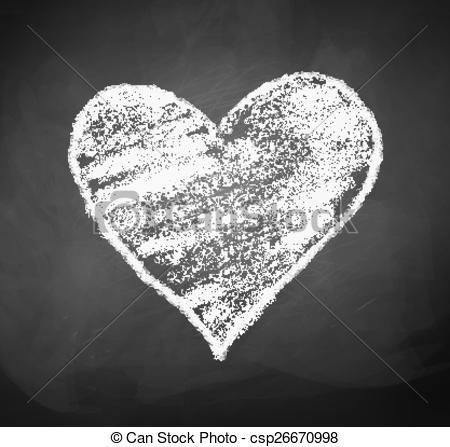 Chalkboard drawing of heart..