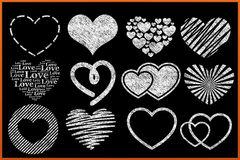 Heart clip art chalkboard.