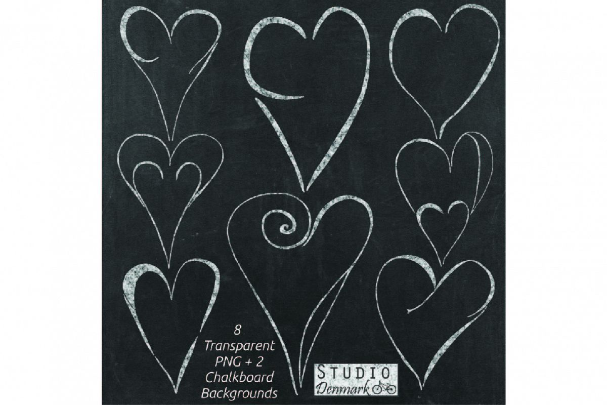 Chalk Hearts Clipart.