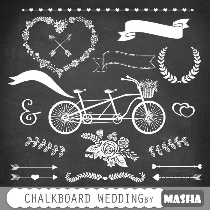 chalkboard january clipart #3