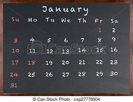 chalkboard january clipart #4