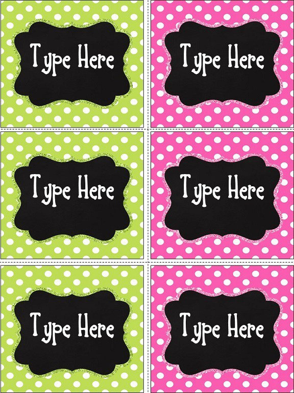 Product categories Printable Labels.