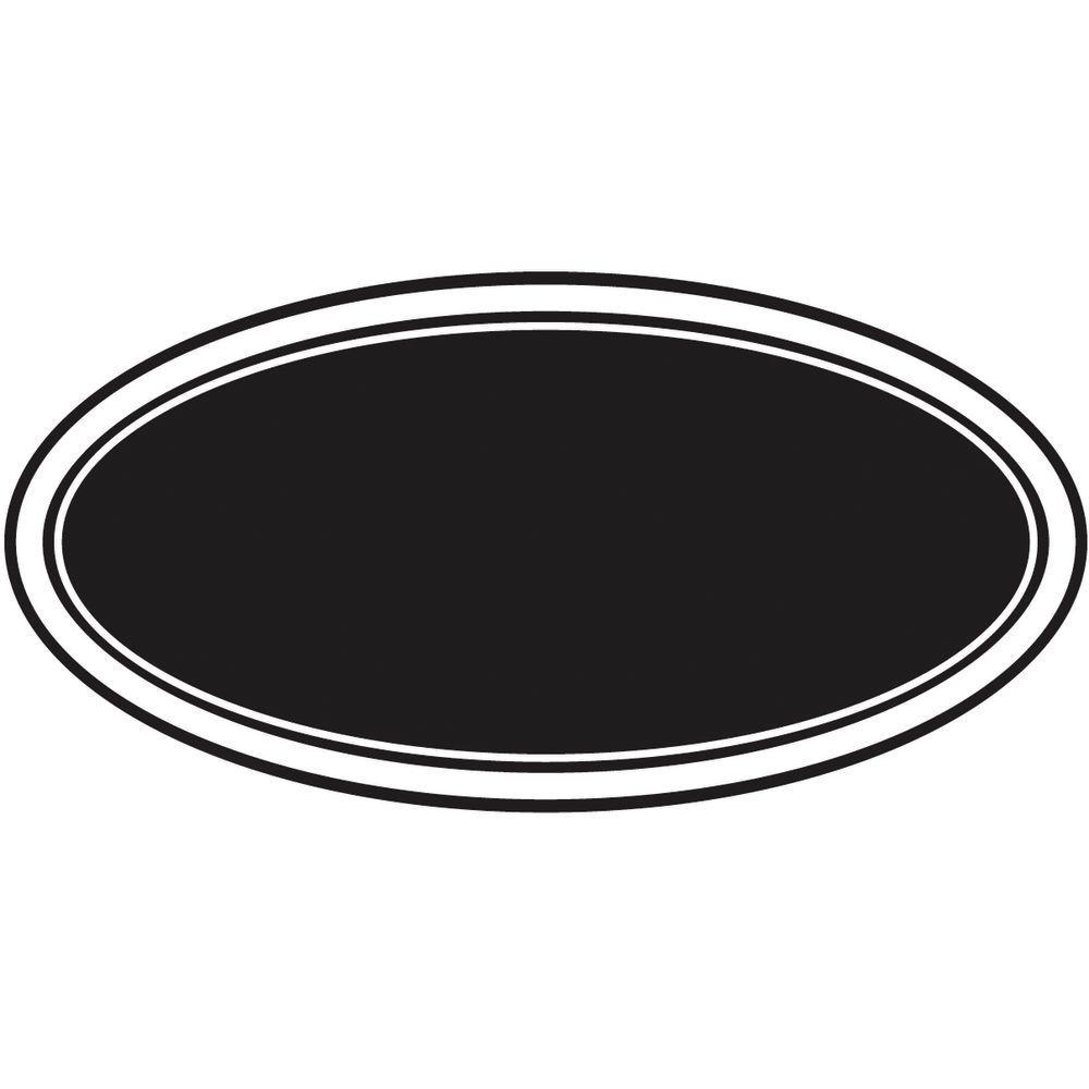 Expressly HUBERT® Black Oval Chalkboard Labels.