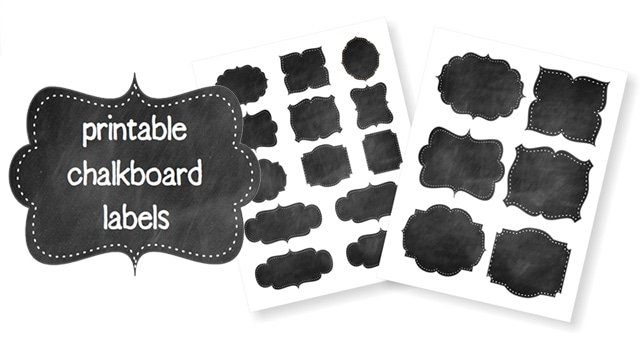 Free Printable Chalkboard Labels > Life Your Way.
