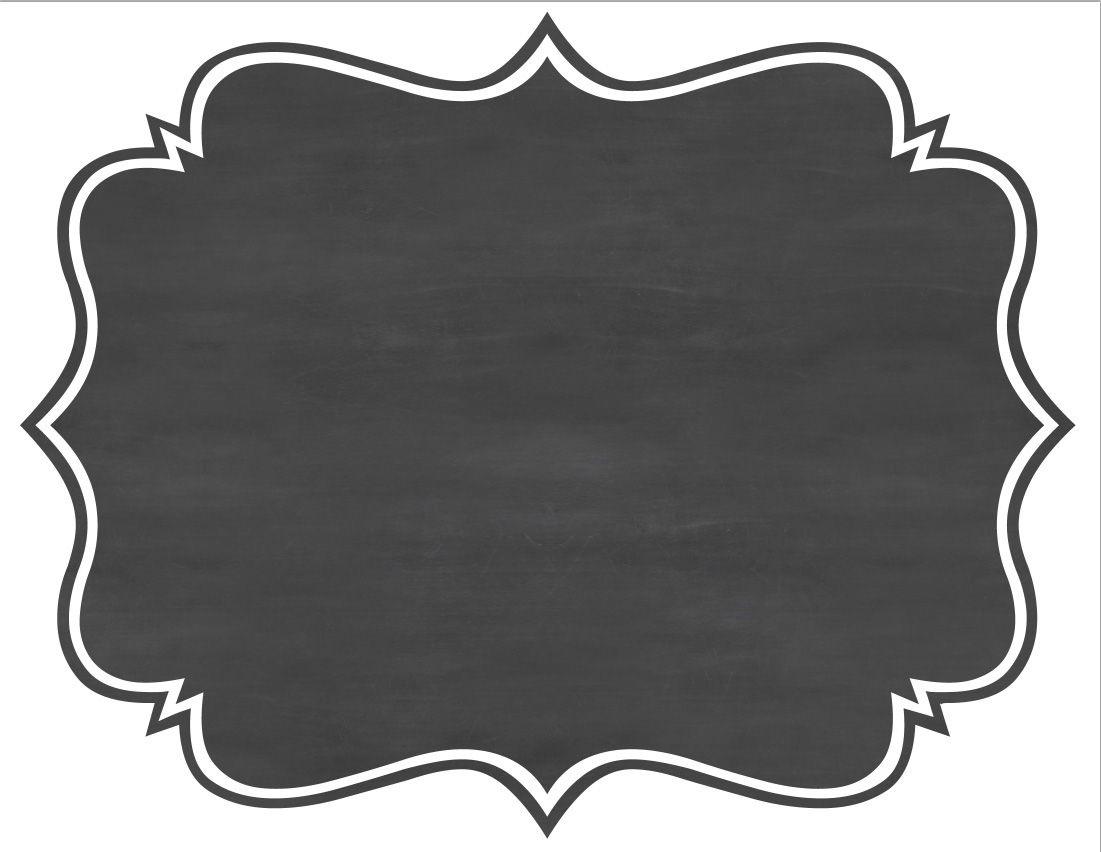 Chalkboard Label Png.