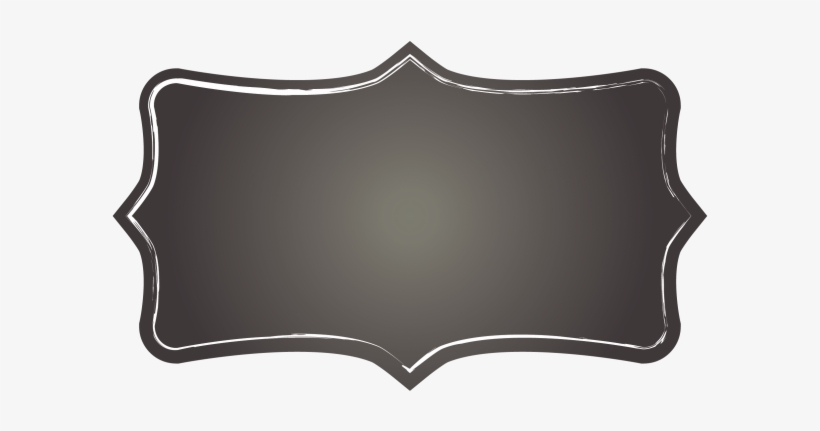 White Chalkboard Label Clipart.