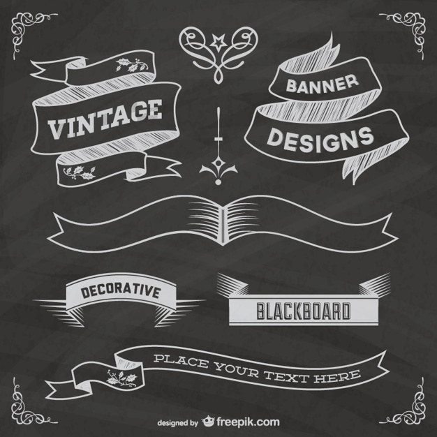 Chalkboard Banner Vectors, Photos and PSD files.