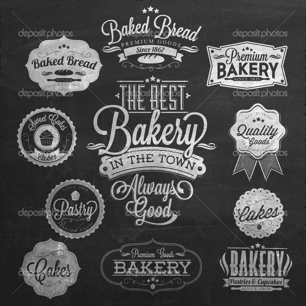 bakery sign chalkboard.