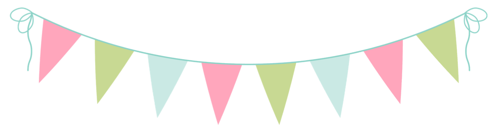 Chalkboard Pennant Cliparts.