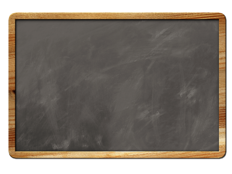 Blank Chalkboard Background With Border (Isolated.