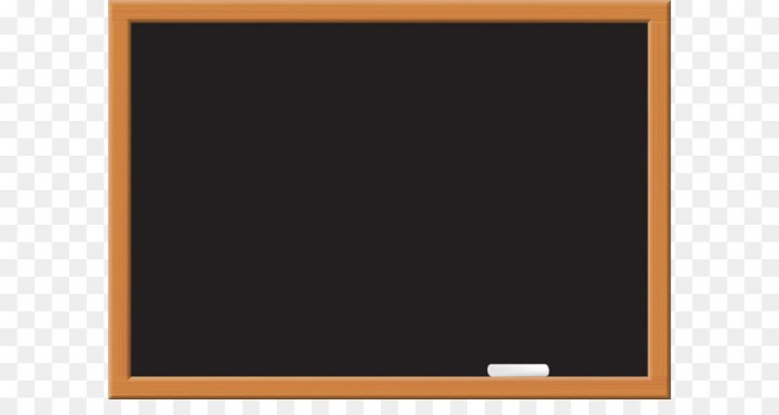 Multimedia Text Picture Frame Computer Monitor Chalkboard Png Clip.