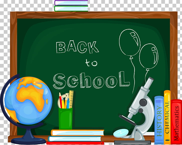 School , School supplies and chalkboard PNG clipart.