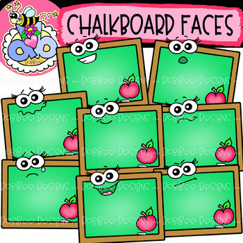 Chalkboard Faces: Back.