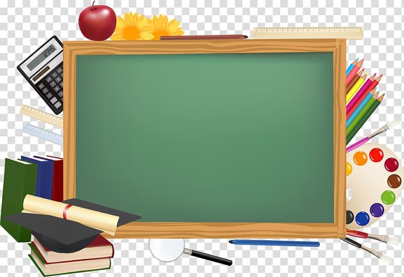 Green chalkboard illustration, School Desktop , blackboard.