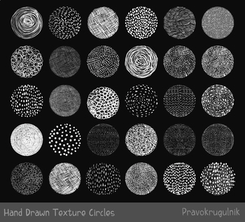 Hand drawn chalkboard doodle texture circles clipart, White round shapes.