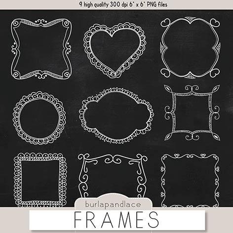 Chalkboard frame.