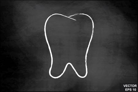 Chalkboard Tooth Clipart.