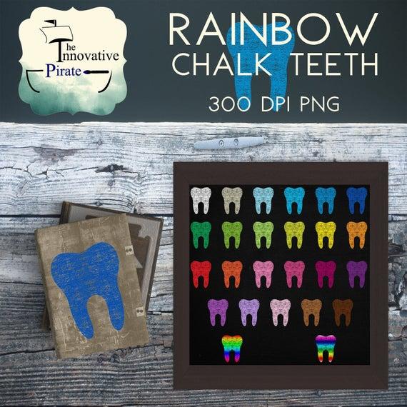 Chalk Teeth clipart.