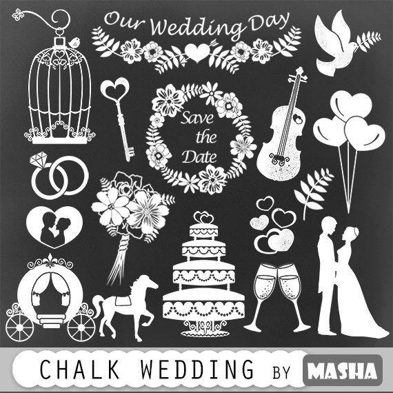 Chalkboard clipart wedding: \