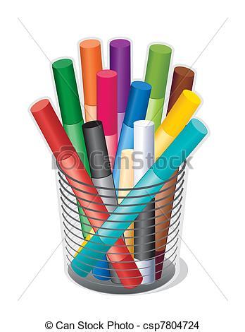 EPS Vector of Multicolor Chalk.