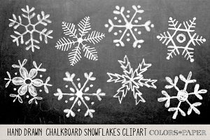 Chalk snowflake clipart Photos, Graphics, Fonts, Themes, Templates.