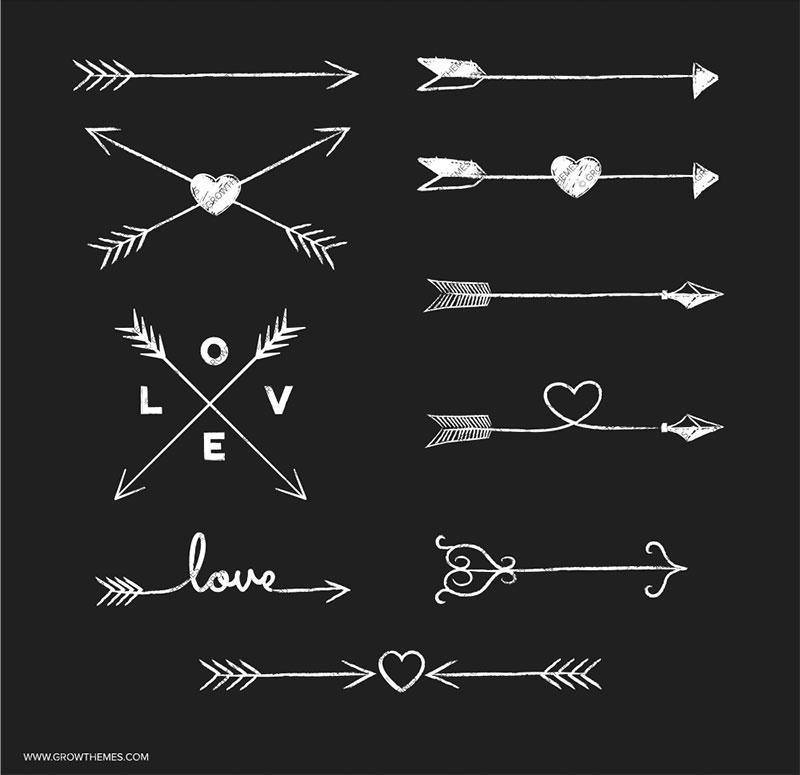 Chalk arrow clipart.