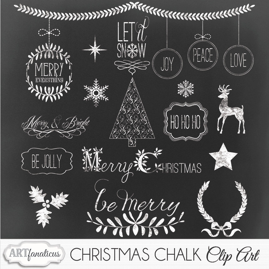 Free christmas chalkboard clipart.