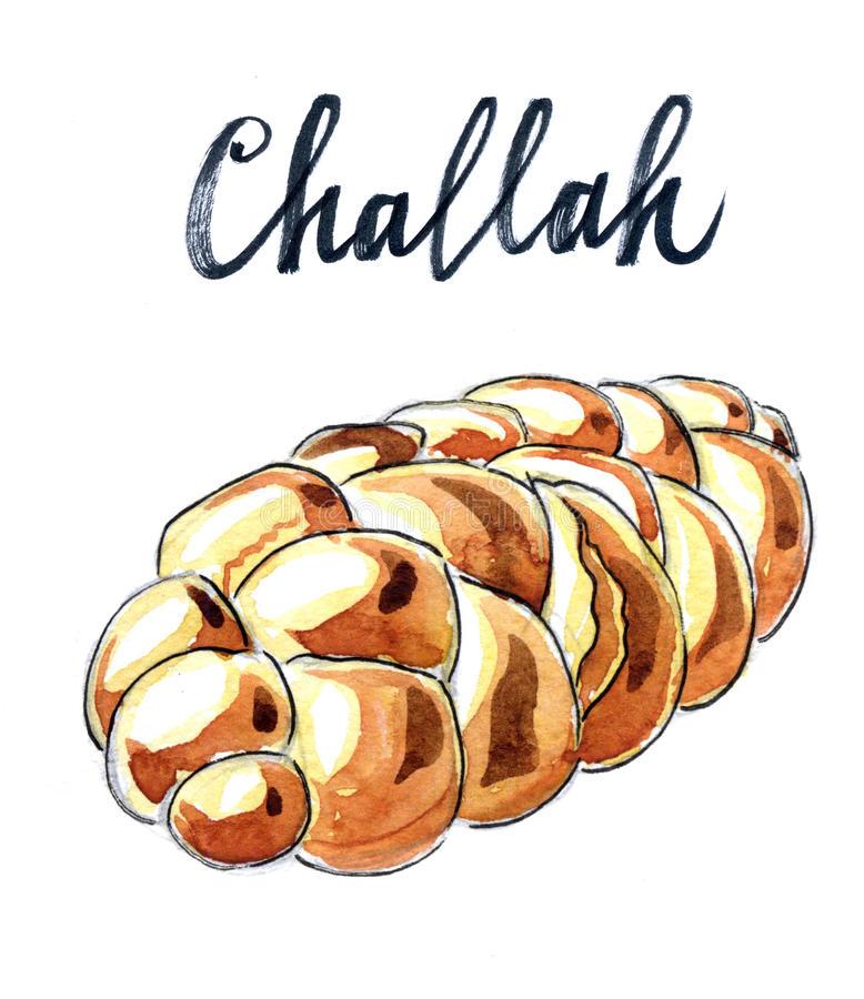 Challah Bread Stock Illustrations.