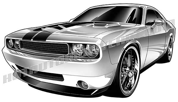 dodge challenger clipart high quality, buy two images, get one.