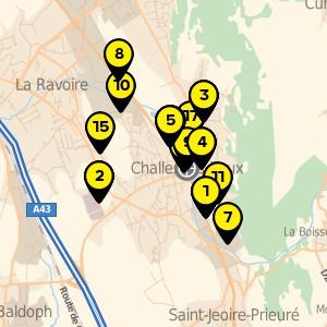 Restauration rapide et libre service à Challes les Eaux.