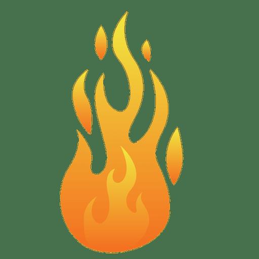 Ilustração de chama de fogo dos desenhos animados.