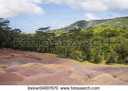 """Stock Photography of """"Chamarel Coloured Earths, Terre de couleurs."""