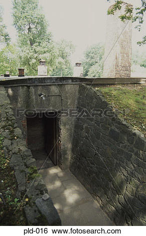 Stock Images of Gas Chamber and Crematorium Auschwitz Poland pld.