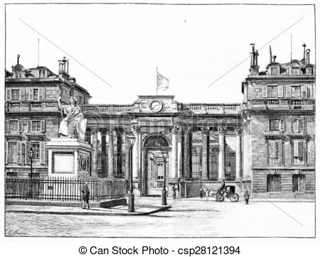 Stock Illustration of The Palace of the Chamber of Deputies, front.