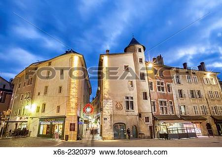 Stock Photograph of Place de Geneve in Chambery, Savoie, Rhone.