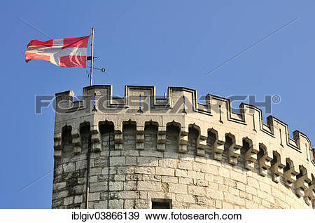 "Stock Photograph of ""Defence tower, Chateau de Chambery, Chambery."