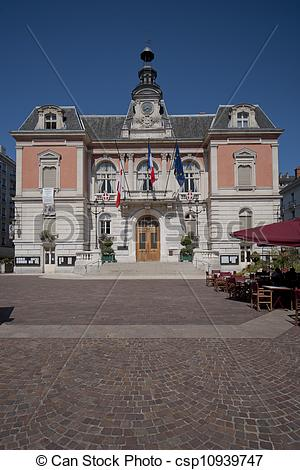 Stock Photo of the town hall of Chambery.