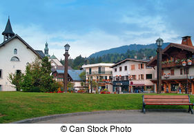 Stock Photos of City of Chambery in Savoy, France and mountain of.