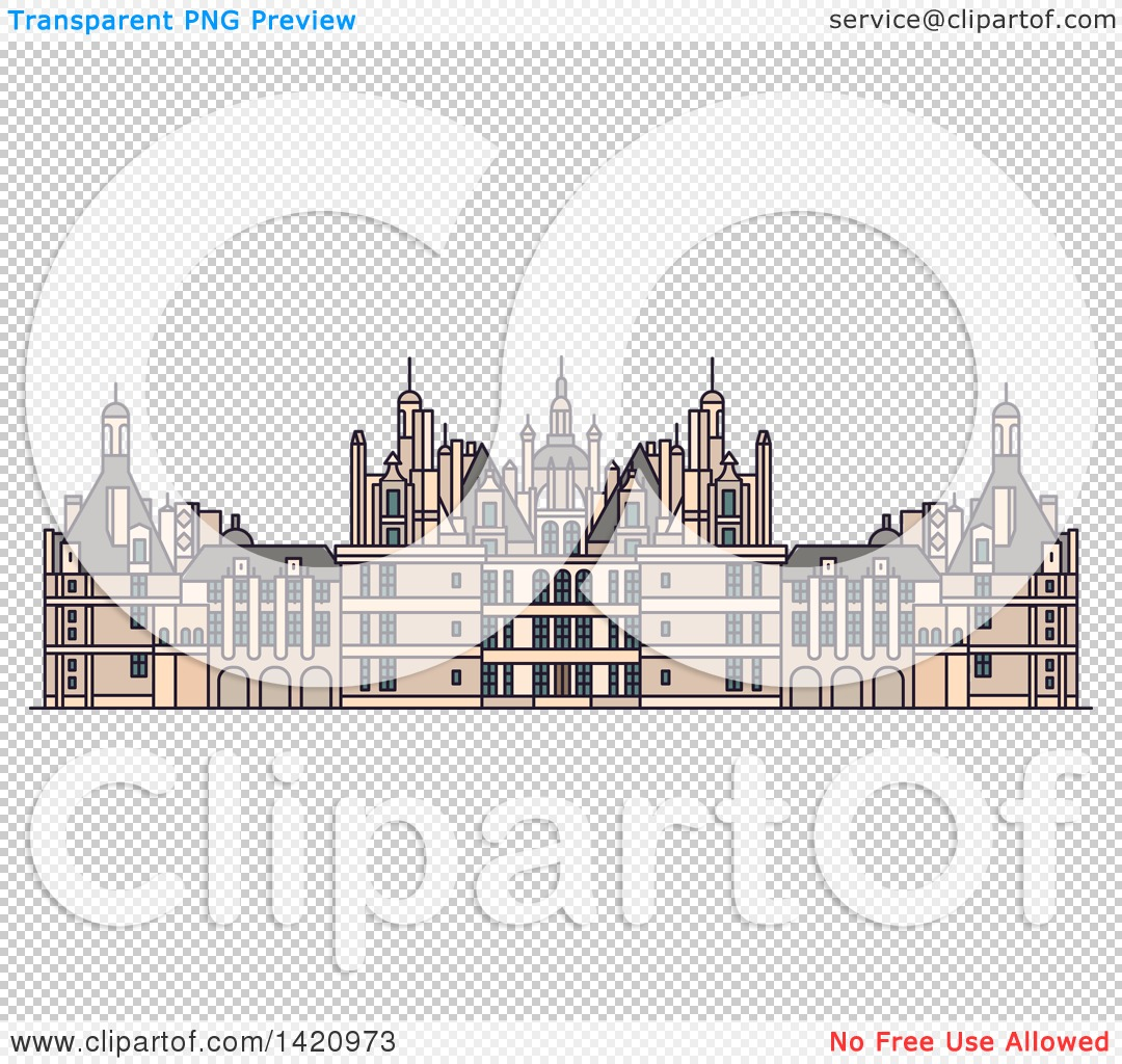 Clipart of a French Landmark, Chateau De Chambord.