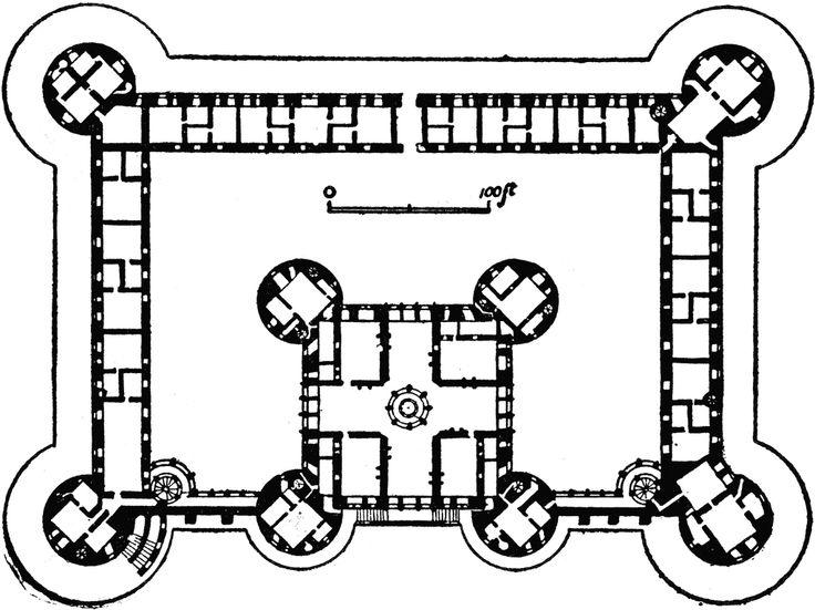 Plan of Château de Chambord.