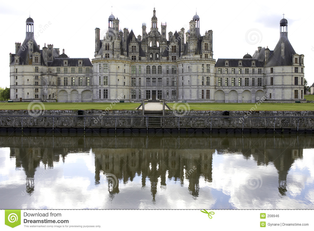Chateau De Chambord, Loire Valley, France Royalty Free Stock Image.