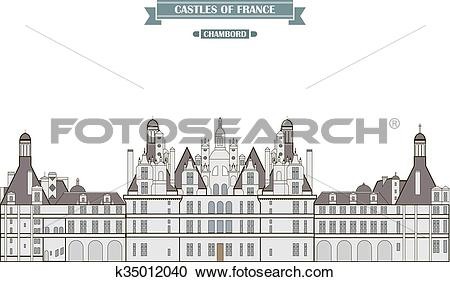 Clipart of Chambord, France k35012040.