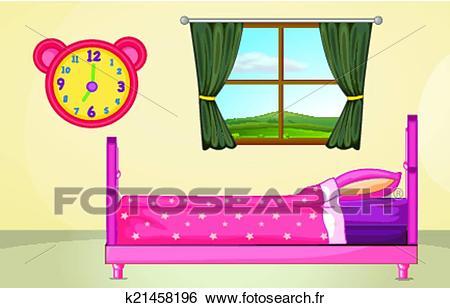 Chambre à coucher, monture Clipart.