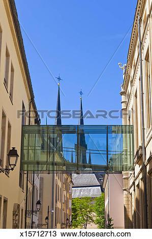 Stock Photo of Chambre des Deputes, Rue de l'Eau, Luxembourg.