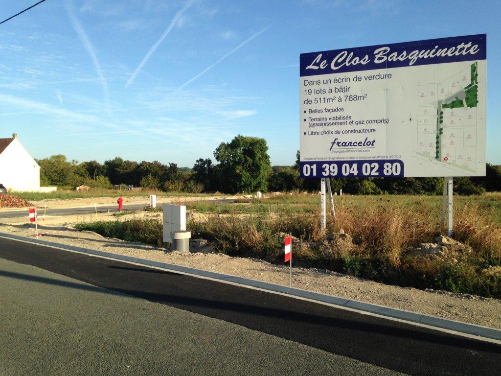 Terrain à vendre Cambronne Les Clermont, 60290.