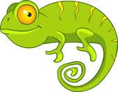 Free chameleon clip art.