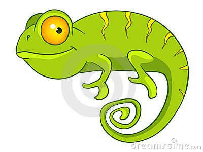 Cartoon Character Chameleon.