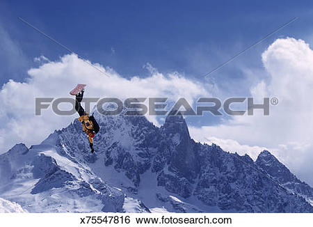 Stock Images of France, Chamonix Valley, Chamonix Alps, man.