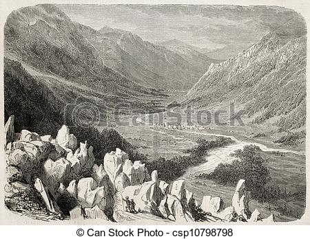 Stock Illustration of Chamonix.