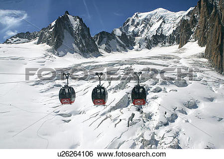 Stock Images of Cable car of Heilbroner between France and Italy.